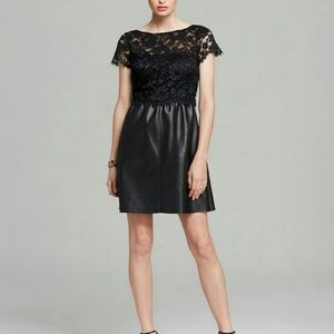 Bailey 44 Lace Leather Black Dress Anthropologie